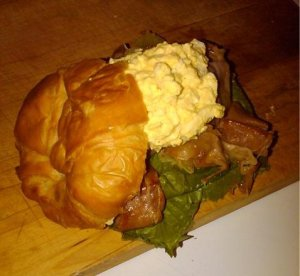 Egg Salad & Proscuitto Sandwich