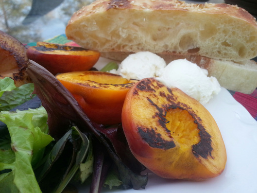 Grilled Stone Fruit Salad with Fresh Ricotta