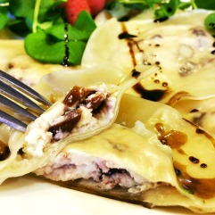 Banner Butter Chocolate Raspberry Ravioli
